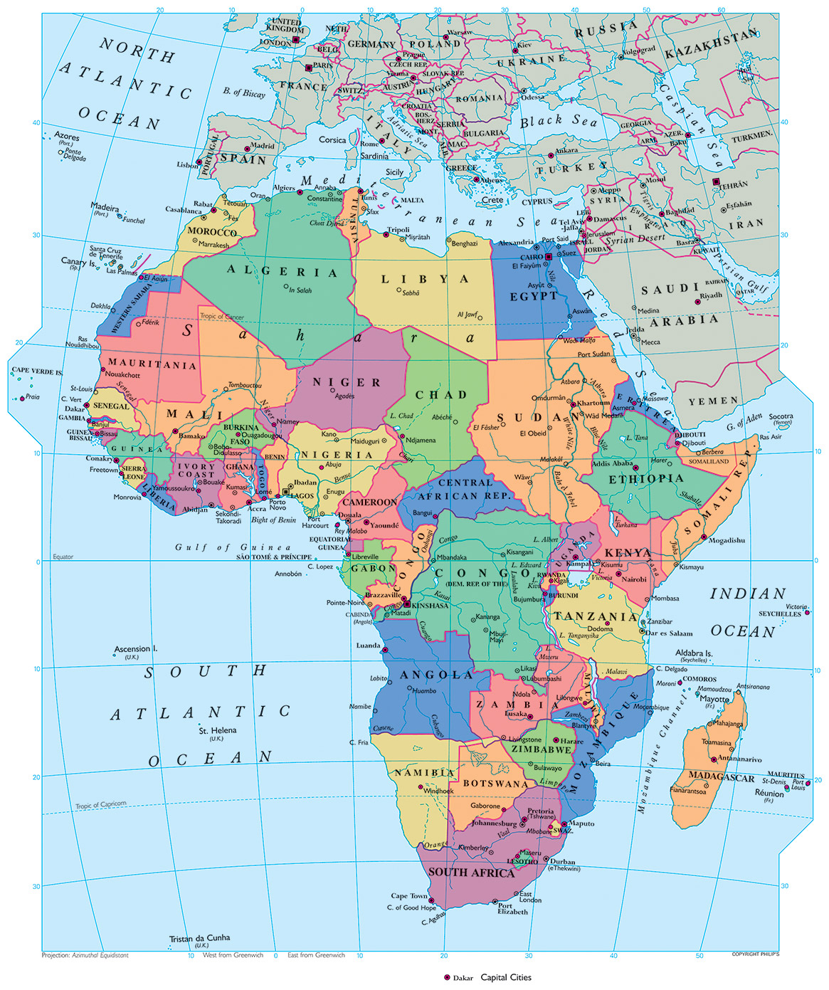 Map Africa Equator | Map Of Africa
